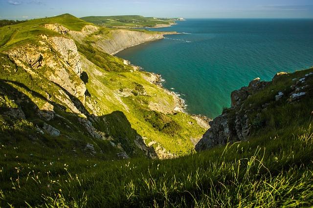 Reefs, Coast, Dorset, Ocean, England