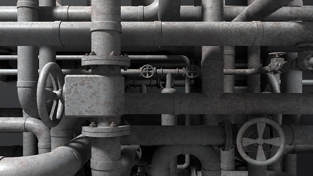 Refinery, Refining, Pipes, Valves, Industry, Grey