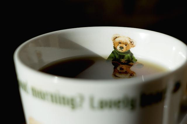 Coffee, Coffee Mug, Winnie, Bath, Reflect, Free, Cup