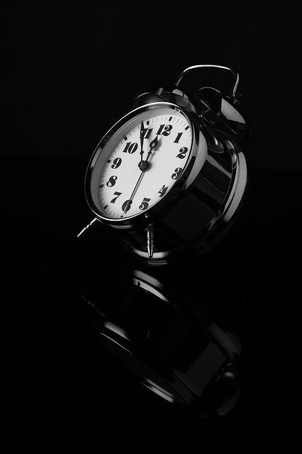Alarm Clock, Black And White, Reflection, Clock, Dial