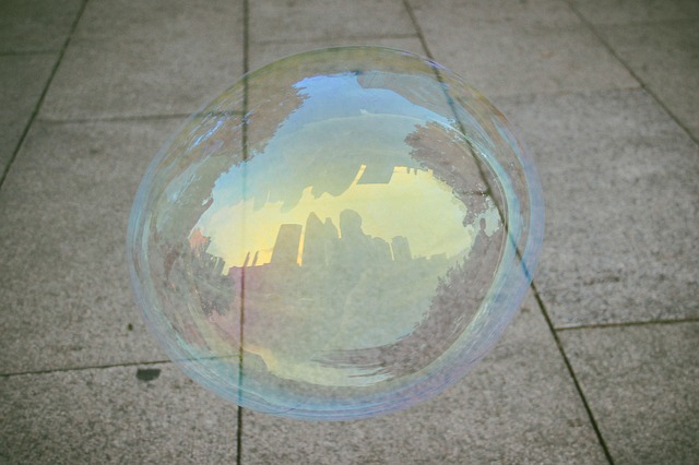 Bubble, City, Reflection