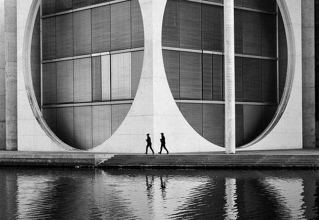 Architecture, Geometry, Modern, District, Reflection