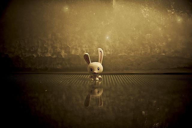 Bunny, Cute, Figurine, Plastic, Rabbit, Reflection