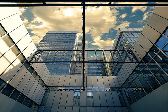 Town Home, Bonn, Glass, Reflection, Architecture, Sky