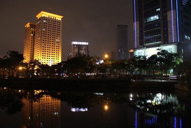 Night View, Construction, Reflection, Itabashi