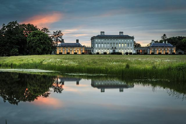 Landscape, House, Reflection, Sunset, Ireland