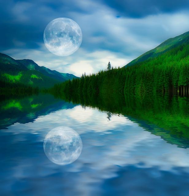 Nature, Reflection, Calm, Lake, Landscape, Pacific