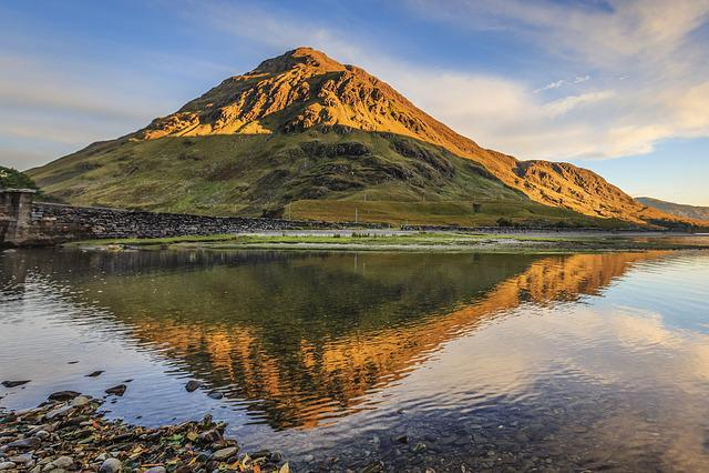 Mountain, Reflection, Landscape, Scenery, Nature