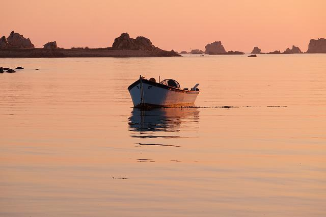 Brittany, Boat, Sea, Reflection On The Water, Morning