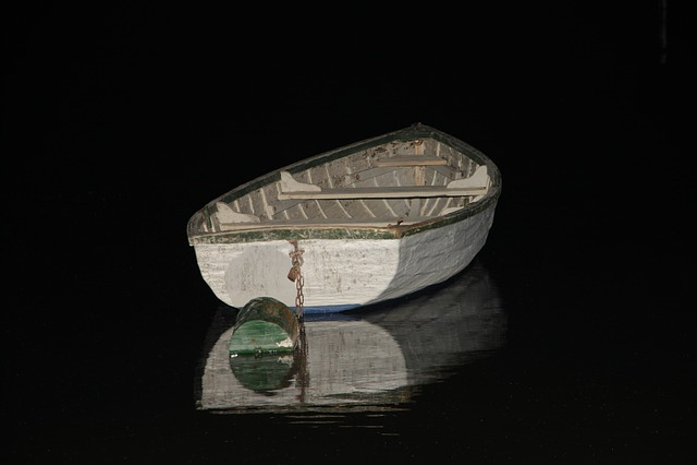 Boat, At Night, Lake Balaton, Water, Reflection