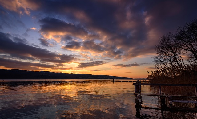 Sunset, Waters, Dusk, Dawn, Nature, Sky, Reflection