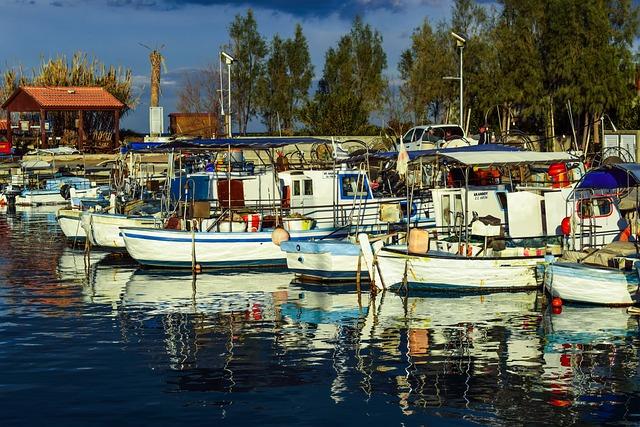 Fishing Harbor, Boats, Sea, Reflections, Ayia Triada