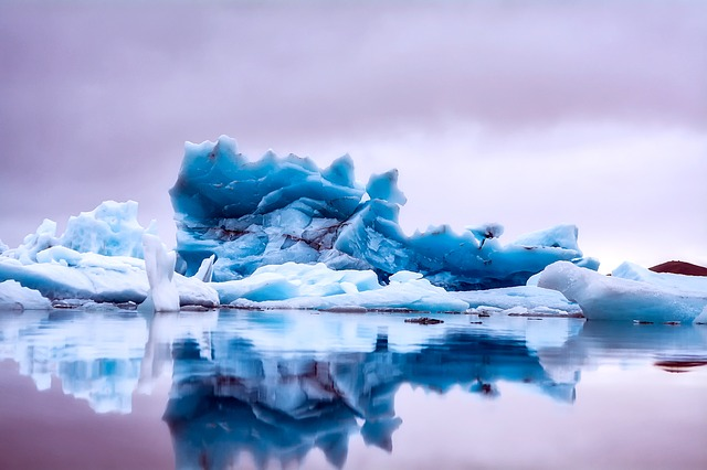 Iceland, Ice, Iceberg, Sea, Ocean, Water, Reflections
