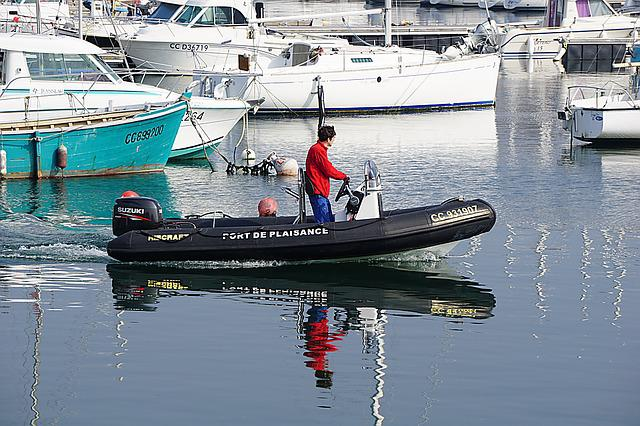 Boat, Port, Reflections, Water, Inflatable Dinghy