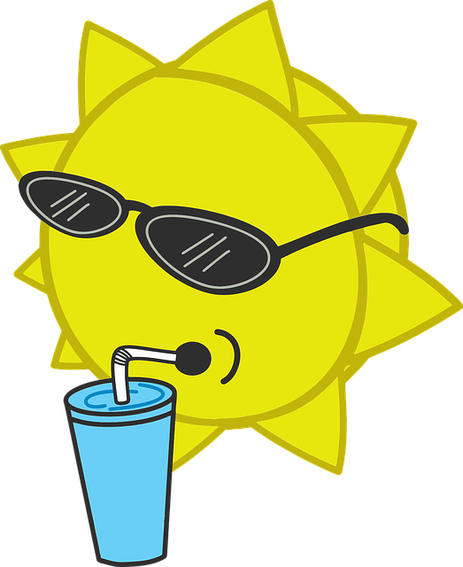 Summer, Sun, Sunglasses, Cool, Drink, Refreshing