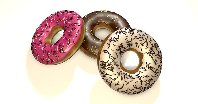 Free Photo Refreshment Donuts Dessert Background Delicious