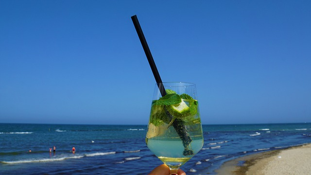 Hugo, Drink, Hand, Woman, Glass, Refreshment, Sea