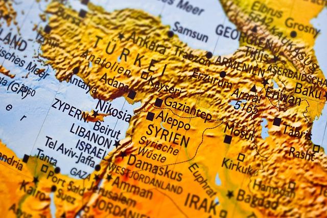 Map, Syria, Aleppo, Refugees, Asylum, Lebanon, Escape