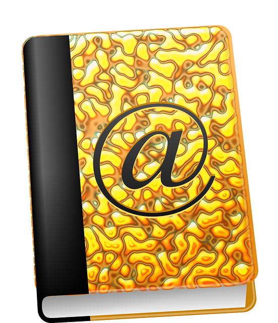 Address, Book, Email, Register, Addresses, Golden