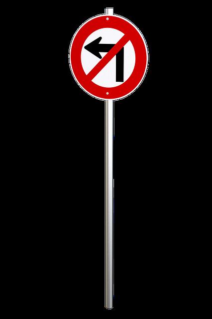 No Left Turn, Traffic Sign, Regulatory, Traffic, Sign