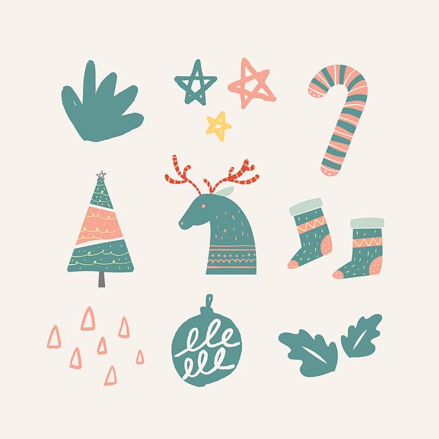 Reindeer, Stars, Socks, Stick, Candy Cane