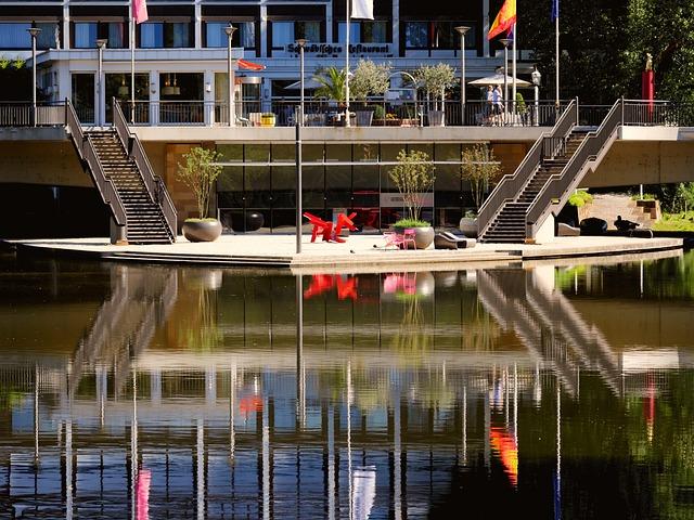 Neckar, River, Island, Bridge, Summer, Relax