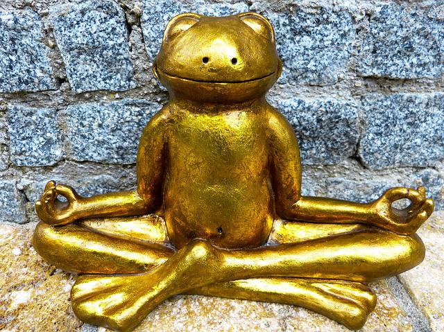 Relaxation, Meditation, Frog, Golden, Yoga