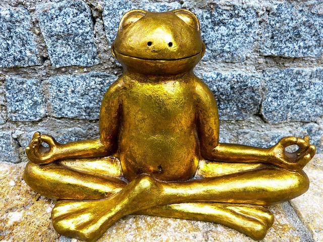 Relaxation, Meditation, Frog, Golden, Yoga