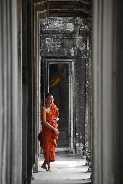 Cambodia, Monk, Angkor Wat, Asia, Ankhor, Religion
