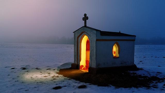 Light, Chapel, Church, Architecture, Religion