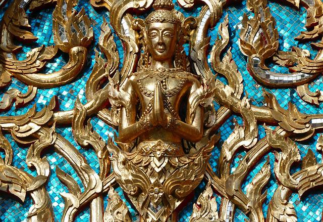 Religion, Art, Golden, Ornament, Buddha, Buddhism