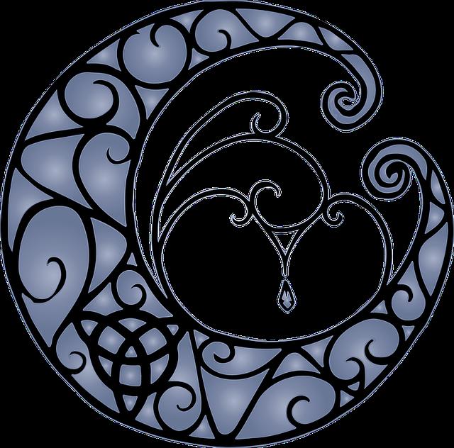 Moon, Triquetra, Pagan, Artistic, Goddess, Religion