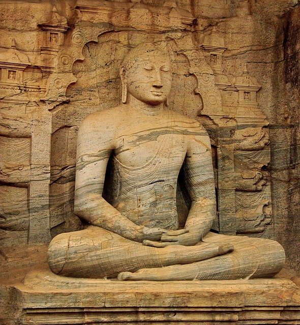 Buddha, Statue, Temple, Religion, Granite, Buddhism