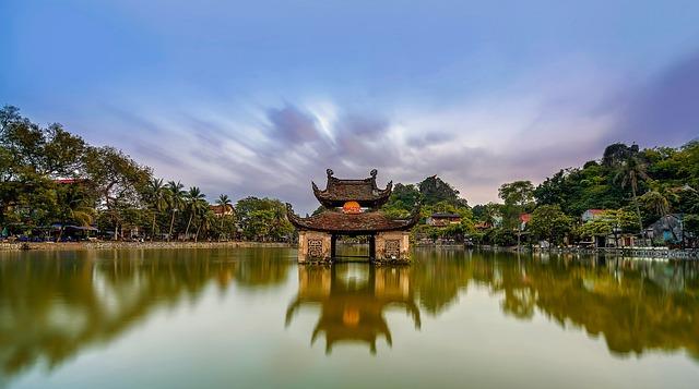 Vietnam, Temple, Pagoda, Religion, Buddhism, Sky