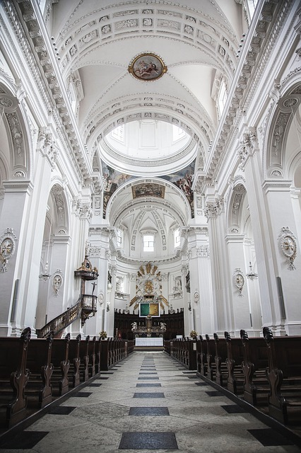 Church, Religion, Aisle, Cathedral, Dome, Ornate