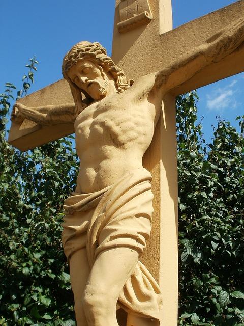 Wayside, Cross, Reilingen, Christianity, Religion