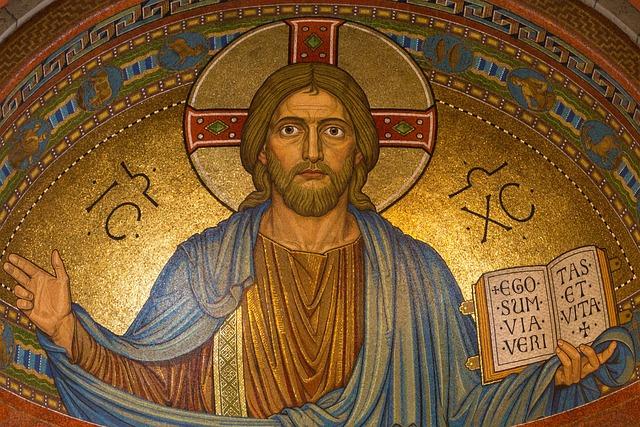 Christ, Jesus, Religion, Mosaic, Easter, Gold