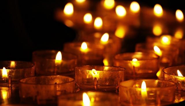 Tea Lights, Candles, Candlelight, Faith, Religion