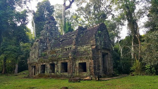 Angkor, Landscape, Zen, Stones, Art, Khmer, Religion
