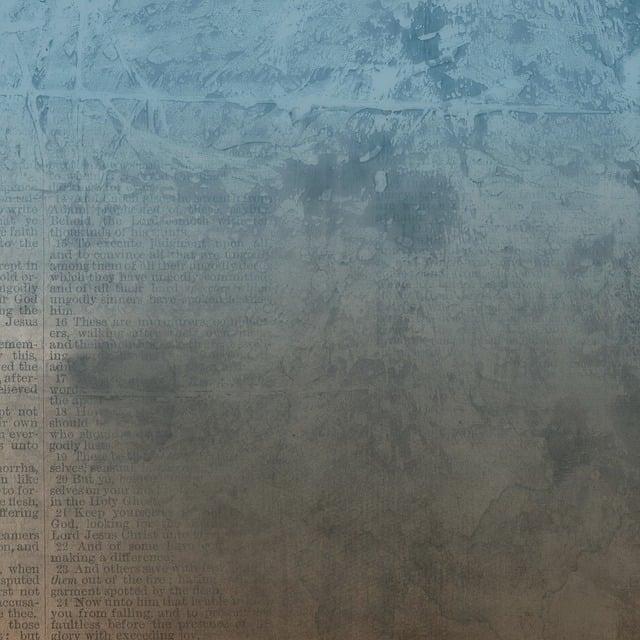 Bible, Blue, Brown, Scrapbook, Religion, Religious