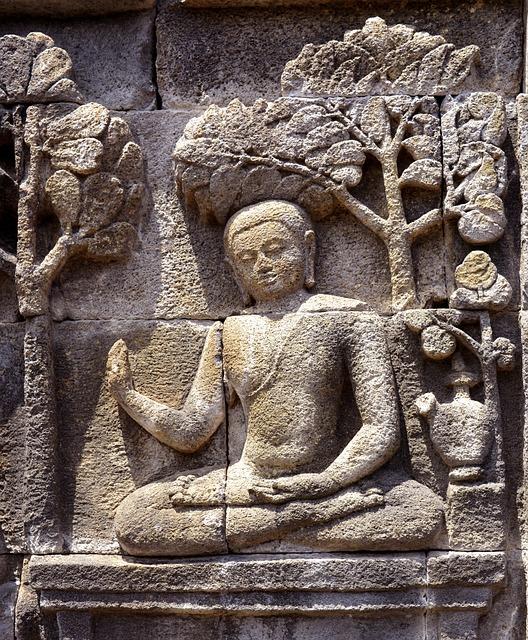 Buddha, Sculpture, Borobudur, Statue, Religion, Temple