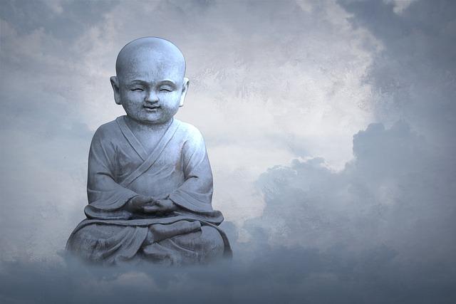 Child, Sky, Religion, Spirituality, Cloud, Buddha