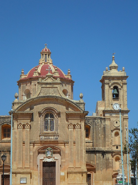 Church, Gozo, Steeple, Religion, Believe, Christianity