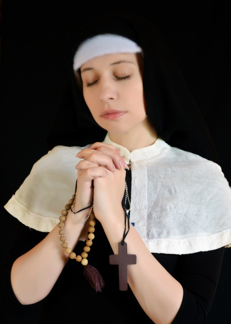 Nun, Cosplay, Cross, Vera, Religion, Prayer, Church
