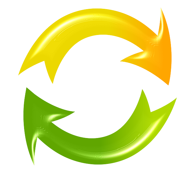 Refresh, Reload, Cycle, Arrows, Green, Yellow