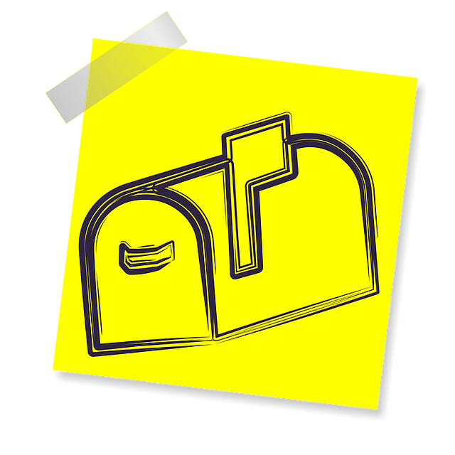 Mail Box, Sign, Icon, Reminder, Yellow Sticker, Post