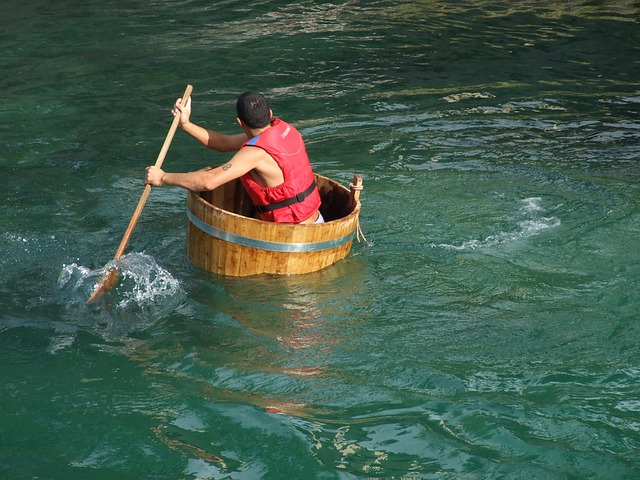 Tub, Palio, Race, River, Water, Remo, Boat, Remi, Float