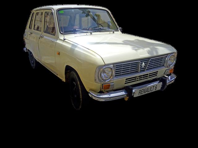 Car, Old, Renault, Renault 6, 60's, 70's, Vintage