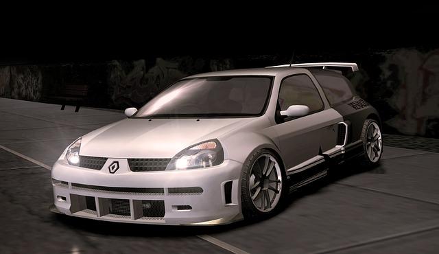 Auto, Renault, Clio, Render, 3d