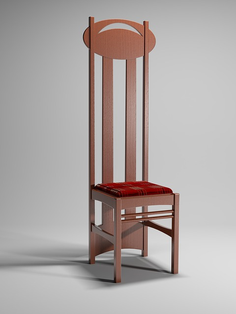 Charles Rennie Mackintosh, Argyle, Chair, Cgi, Render